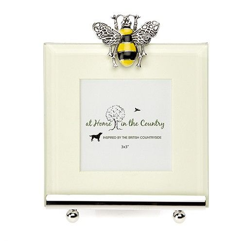 At Home In The Country Photo Frame - Enamel Bee
