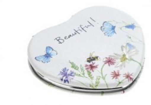At Home In The Country Compact Mirror - Buterflies