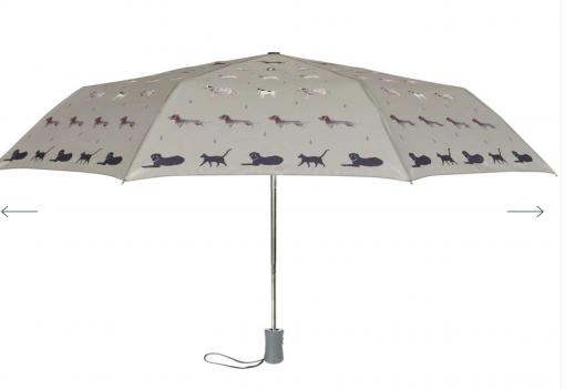 Sophie Allport Umbrella - Raining Cats and Dogs