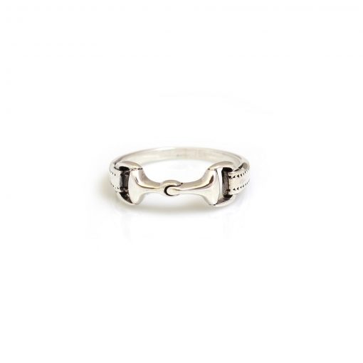 Hiho Silver Detailed Snaffle Ring - Silver
