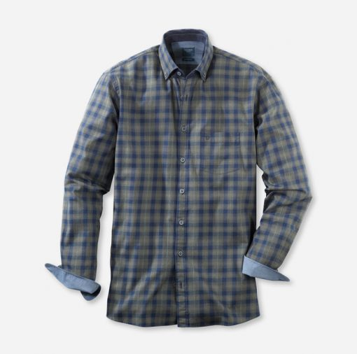 Olymp Casual Modern Fit Shirt - Green Check