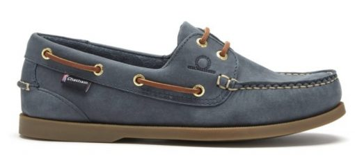 Chatham The Deck II G2 Leather Boat Shoes - Blue