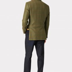 Helsinki Pure New Wool Tweed Jacket - Olive