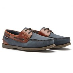 Chatham Bermuda II G2 Leather Boat Shoes - Navy / Seahorse