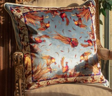 Clare Haggas Double Sided Cushion - Pigeon