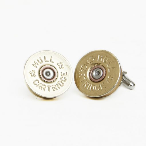 Hicks & Hides 12 Bore Cufflinks - Plain Brass