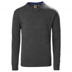 Musto Country V Neck Knit - Charcoal