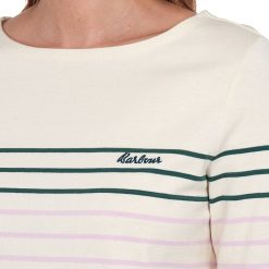 Barbour Hawkins Stripe Top - Off White