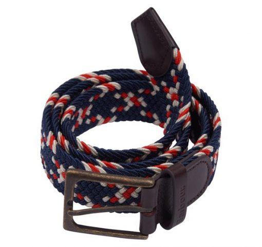 Barbour Ford Belt - Red / Navy / Ecru