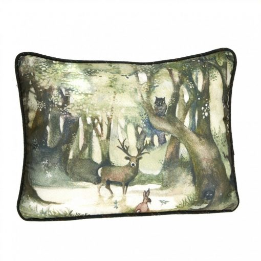 At Home In The Country Cushion - Woodland Glade