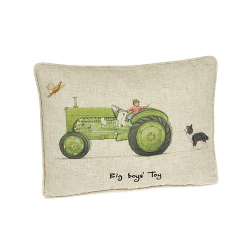 At Home In The Country Cushion - Big Boys' Toys