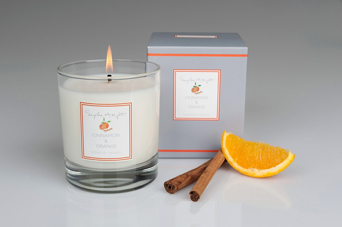 Sophie Allport Scented Candle Cinnamon Orange Ruffords Country Store