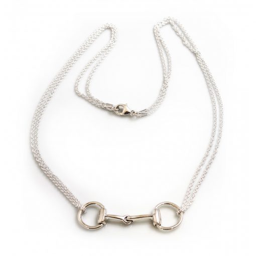 Hiho Sterling Silver Double Chained Snaffle Necklace