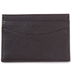 Barbour Amble Leather I.D Billfold - Dark Brown / Classic