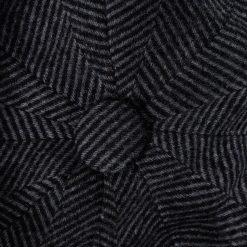 Holland Cooper Baker Boy Tweed Cap - Navy Wide Tooth