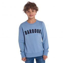 Barbour Boys Prep Logo Crew - Powder Blue
