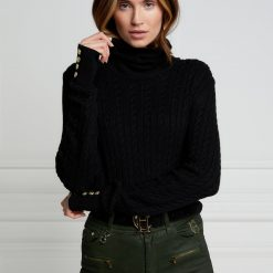 Holland Cooper Seattle Cable Knit - Black