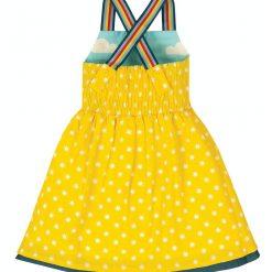 Frugi Essie Reversible Dress - Bright Sky Cloud / Boats