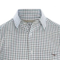 R.M Williams Collins Shirt - Green / Charcoal