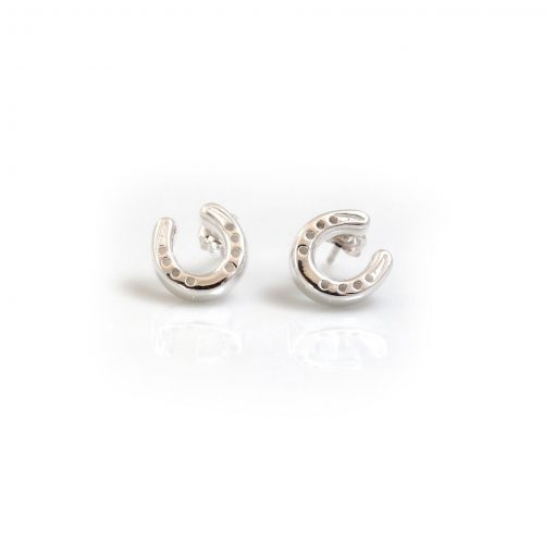 Hiho Silver Horseshoe Studs - Sterling Silver