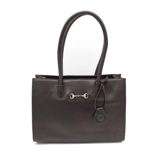 Hicks & Hides Chedworth Bit Handbag - Brown