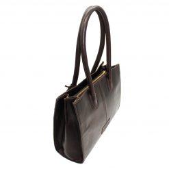Hicks & Hides Chedworth Cartridge Handbag - Brown
