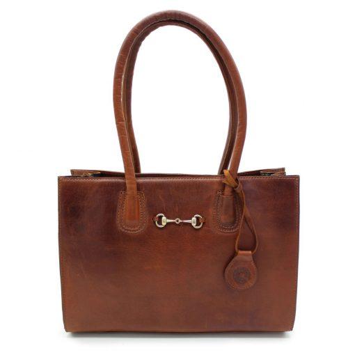 Hicks & Hides Chedworth Bit Handbag - Cognac