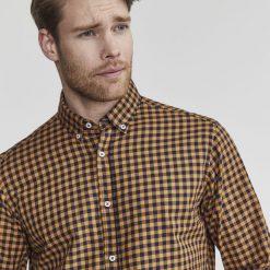 Holebrook Andy Shirt - Mustard / Navy
