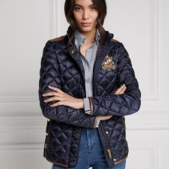 Holland Cooper Diamond Quilt Classic Jacket - Ink Navy