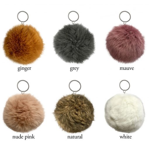 Pampeano Fur Pom Pom Keyring - Large