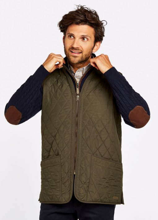 Dubarry Ballygar Quilted Waistcoat - Olive