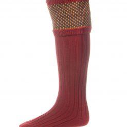 House of Cheviot Tayside Shooting Socks - Brick Red