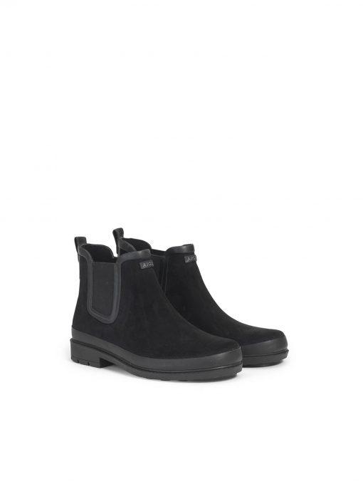 Aigle Textile Ankle Rain Boot Woman - Noir