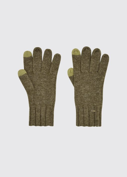 Dubarry Hayes Knitted Gloves - Dusky Green
