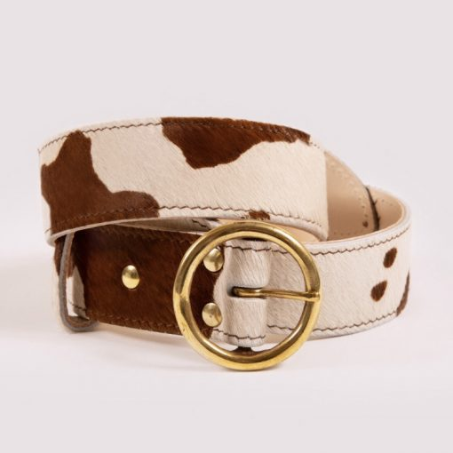 Dalton's England The Bedara Belt - Cow Print