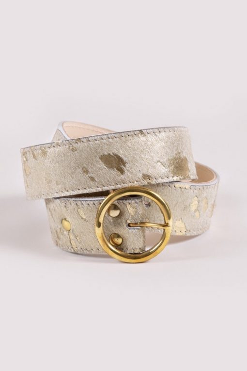 Dalton's England The Bedara Belt - Gold Cowhide