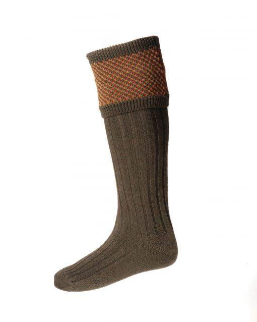 House of Cheviot Tayside Shooting Socks - Bracken