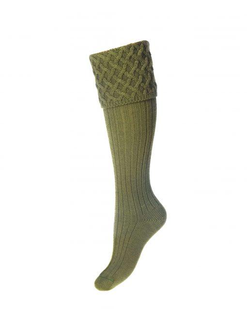 House of Cheviot Lady Rannoch Shooting Socks - Moss