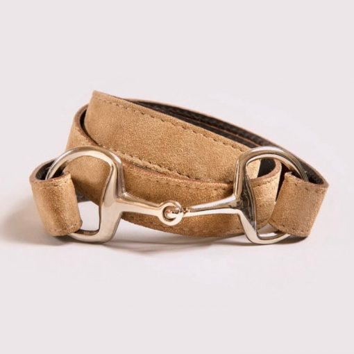 Dalton's England The Snaffle Clasp Belt - Fawn Suede