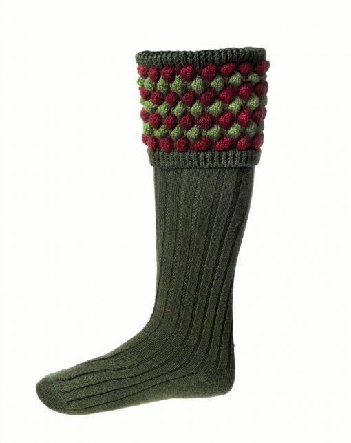 House of Cheviot Angus Shooting Socks - Spruce