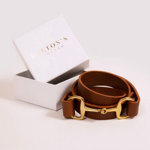 Dalton's England The Snaffle Clasp Belt - Tan Leather