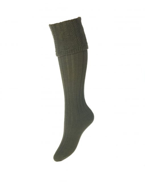 House of Cheviot Lady Glenmore Shooting Socks - Spruce