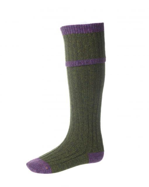 House of Cheviot Kyle Shooting Socks - Scotspine