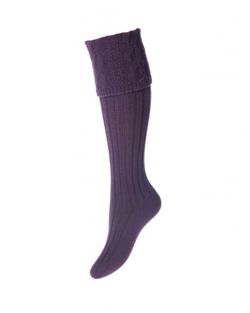 House of Cheviot Lady Glenmore Shooting Socks - Thistle