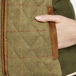 Dubarry Juniper Tweed Gilet - Elm