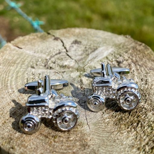 At Home In The Country Cufflinks - Tractor