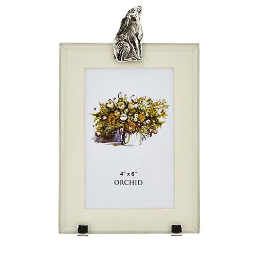 At Home In The Country Rectangle Photo Frame - Moongazing Hare