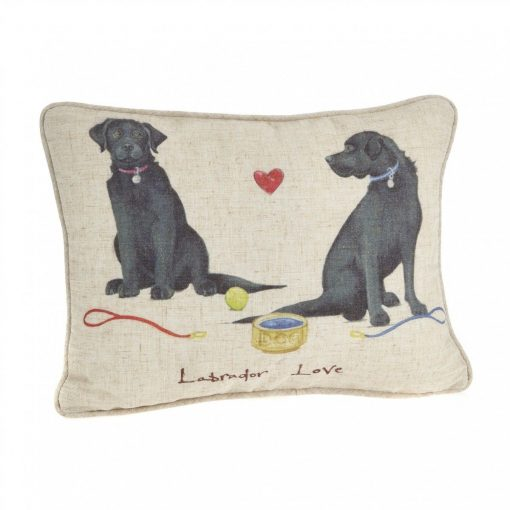 At Home In The Country Cushion - Labrador Love