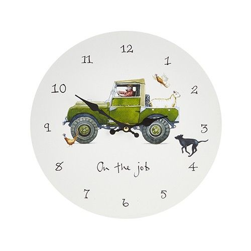 At Home In The Country Wall Clock - On The Job
