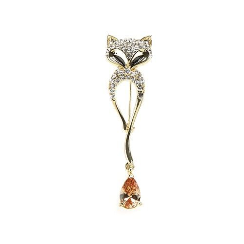 At Home In The Country Brooch - Sparkly Fox